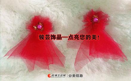 厂家直销新款儿童饰品精美时尚蝴蝶结网纱发夹