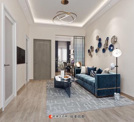 棠棣之华精装公寓53平两房超高赠送扩展面积 购房契税全免