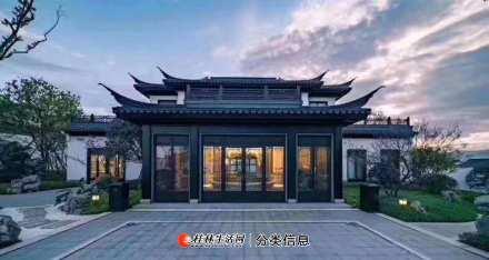 W桂林罗山湖度假区桃李春风,桂林首家合院住宅,中式院落,私密庭院空间,内外有园格