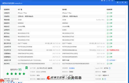iPhone 7p 玫瑰金 32G 95新 国行