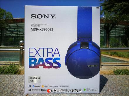 自用索尼MDR-XB950B1头戴式重低音无线蓝牙耳机