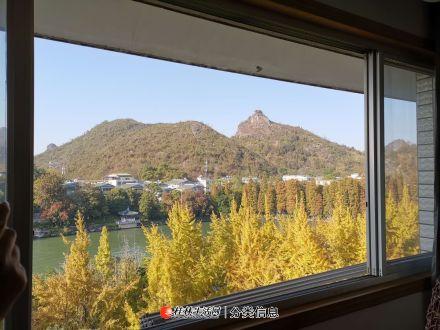 市中心 桂湖边上的超实用复式湖景大四房~出租!