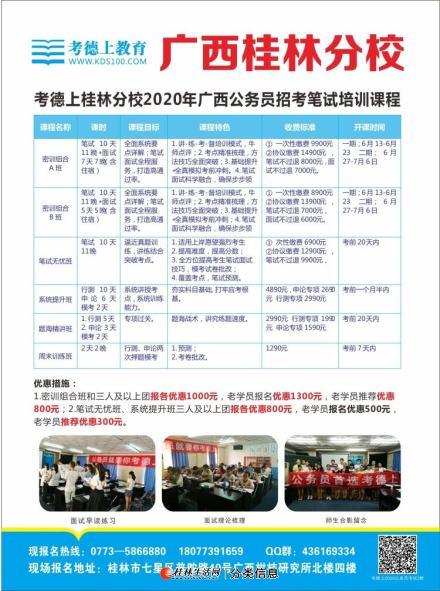 2020桂林考德上公务员招考笔试课程