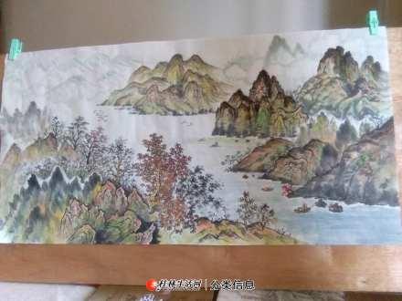 纯手工绘制中国山水画售卖 20200620