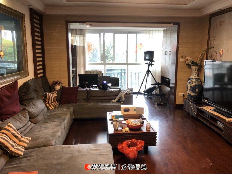 桃花江畔,香江漫步电梯4楼,精装4室2厅,户型方正,南北通透
