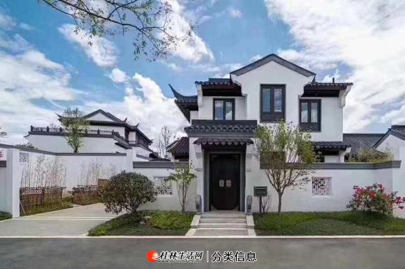 桂林罗山湖度假区桃李春风,桂林首家合院住宅,中式院落,私密庭院空间