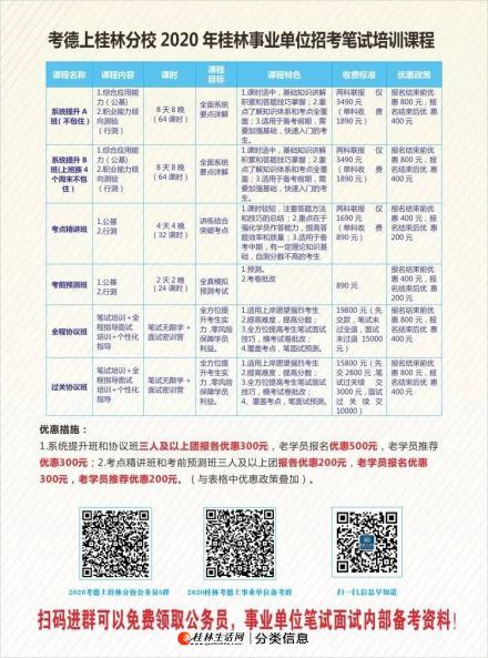 桂林考德上事业单位笔试课程培训