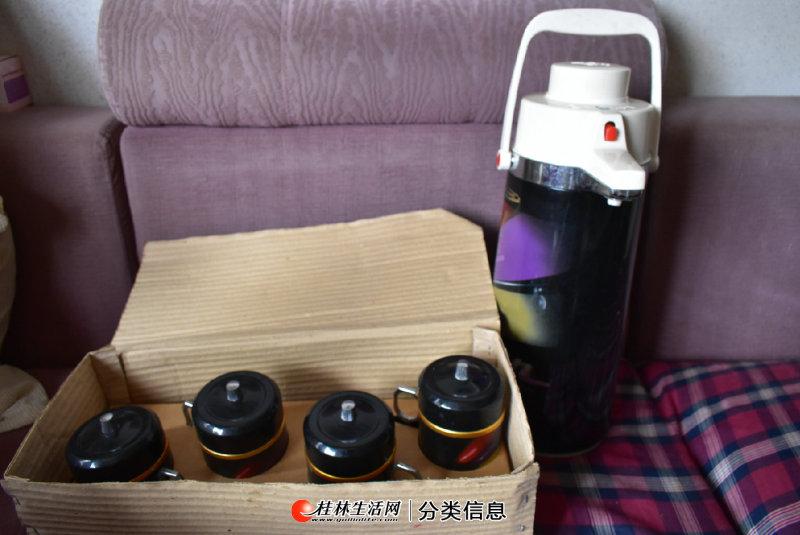 热水壶加4个保温杯全套转让给需要的朋友