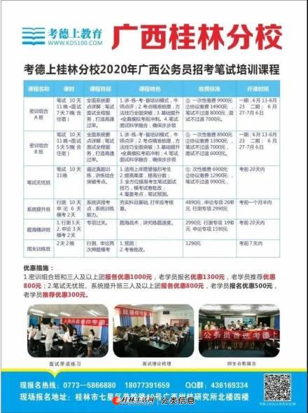 2020桂林考德上区考笔试课程班