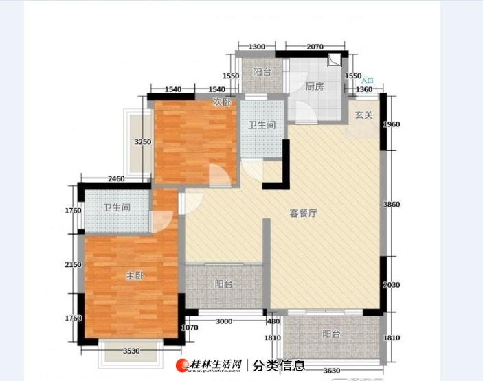 精通伊顿国际3房带露台,客厅朝南有证