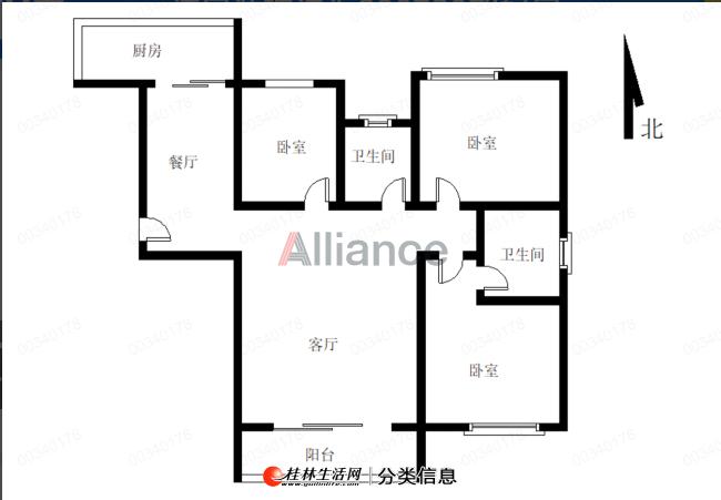 LI吾悦广场汇荣桂林,产权102使用122平,电梯13楼,朝南三房,白菜价55万