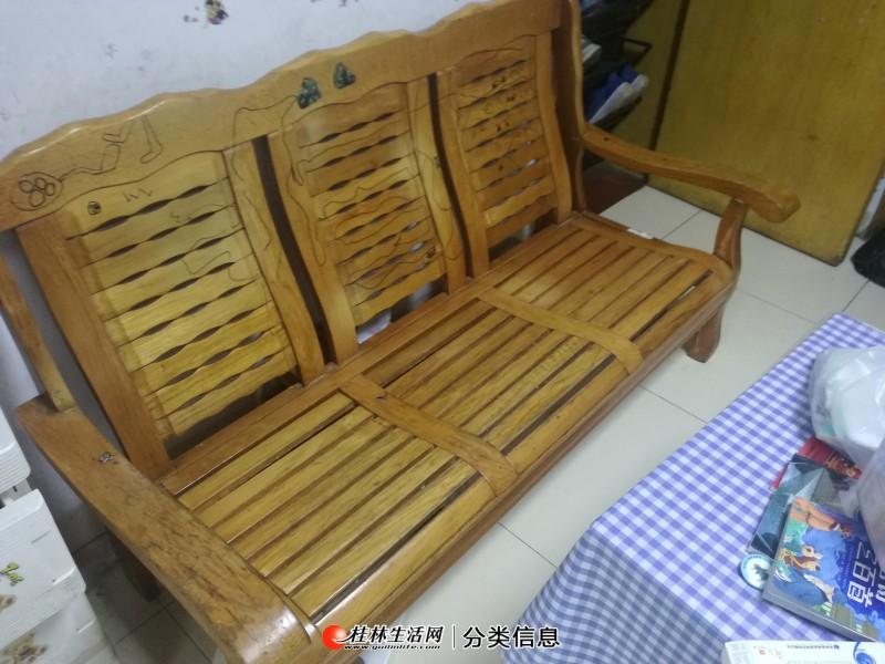 实木沙发,3人座位,