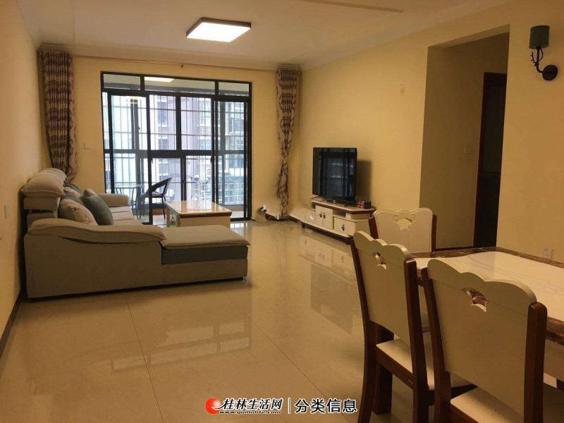 安置小区电梯3楼,3房2厅2卫,122平方家电家具齐全,月租2500元,