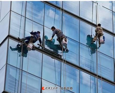 桂林清洗广告牌,清洗灯箱招牌,大楼门头外墙清洗公司
