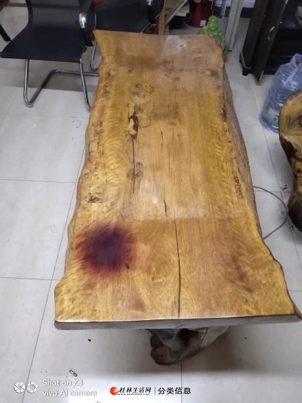 自用原梨木茶桌一套,樟木座椅一张