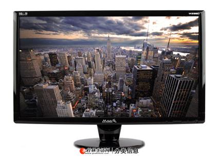 做设计显示器,冠捷24寸宽屏液晶显示器,完美显示效果
