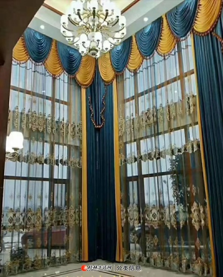 窗帘我能长期70元一个窗全包(宽不超过2米,轨道纳米消音轨,窗帘布单价不超过25元米