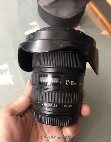 自用闲置日本产佳能17-40mm f/4L全副单反镜头