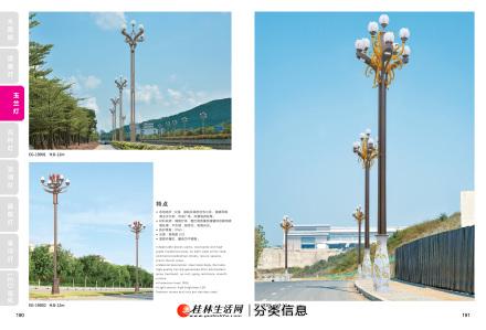 河池景观灯、高杆灯、中华灯、玉兰灯厂家定制