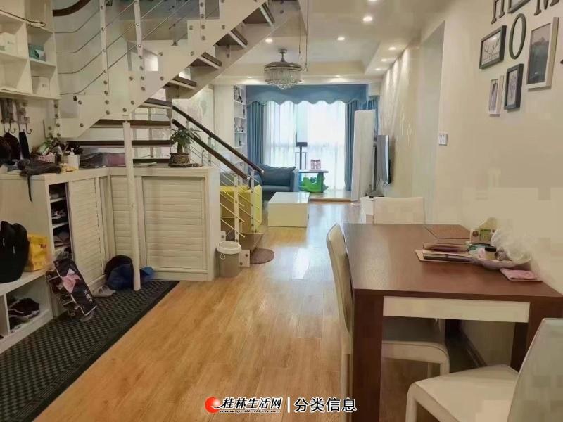 彰泰江与城5房2厅2卫,使用160平方,带露台40平方,复式楼11-12