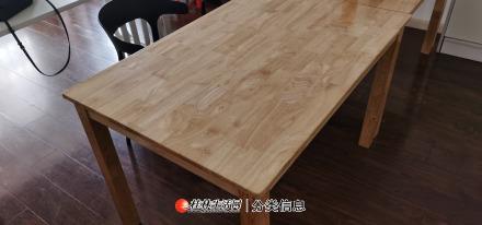橡木长方桌出售,有意的上门自提