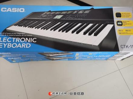 全新卡西欧ctk-1100电子琴2台转手  附送价值80元雅马哈琴架