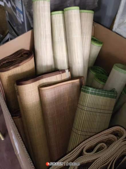 全新北极绒高档碳化竹凉席便宜出售